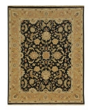 RugStudio presents Jaipur Rugs Jaimak Lerik JM03 Ebony/Ginger Brown Hand-Knotted, Good Quality Area Rug