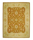 RugStudio presents Jaipur Rugs Jaimak Lerik JM04 Ginger Brown/Sand Hand-Knotted, Good Quality Area Rug