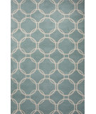 RugStudio presents Jaipur Rugs Lounge Abeet Loe21 Sea Blue/Beige Hand-Tufted, Good Quality Area Rug