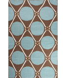 RugStudio presents Jaipur Rugs En Casa By Luli Sanchez Flat-Weave Grid Dot Lsf01 Dark Chocolate/Capri Flat-Woven Area Rug