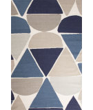 RugStudio presents Jaipur Rugs En Casa By Luli Sanchez Flat-Weave Dew Drops Lsf03 White/Dark Denim Flat-Woven Area Rug