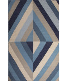 RugStudio presents Jaipur Rugs En Casa By Luli Sanchez Flat-Weave Tunnel Lsf05 Ocean Blue/Antique White Flat-Woven Area Rug