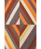RugStudio presents Jaipur Rugs En Casa By Luli Sanchez Flat-Weave Tunnel Lsf06 Red Oxide/Light Gold Flat-Woven Area Rug