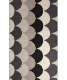 RugStudio presents Jaipur Rugs En Casa By Luli Sanchez Flat-Weave Ripple Lsf09 Ebony/White Flat-Woven Area Rug
