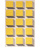 RugStudio presents Jaipur Rugs En Casa By Luli Sanchez Flat-Weave Cubes Lsf18 White/Yellow Flat-Woven Area Rug