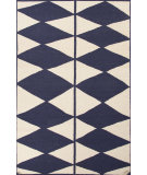 RugStudio presents Jaipur Rugs En Casa By Luli Sanchez Flat-Weave Harlequin Lsf21 Antique White/Deep Navy Flat-Woven Area Rug