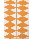 RugStudio presents Jaipur Rugs En Casa By Luli Sanchez Flat-Weave Harlequin Lsf24 White/Orange Flat-Woven Area Rug