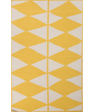 RugStudio presents Jaipur Rugs En Casa By Luli Sanchez Flat-Weave Harlequin Lsf25 White/Yellow Flat-Woven Area Rug