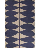 RugStudio presents Jaipur Rugs En Casa By Luli Sanchez Flat-Weave Petals Lsf26 Antique White/Deep Navy Flat-Woven Area Rug