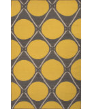 RugStudio presents Jaipur Rugs En Casa By Luli Sanchez Flat-Weave Grid Dot Lsf28 Liquorice/Yellow Flat-Woven Area Rug