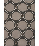 RugStudio presents Jaipur Rugs En Casa By Luli Sanchez Flat-Weave Grid Dot Lsf33 Black Ink & Medium Gray Flat-Woven Area Rug