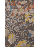 RugStudio presents Jaipur Rugs En Casa By Luli Sanchez Wild Flowers Lst01 Liquorice/Silver Gray Hand-Tufted, Good Quality Area Rug