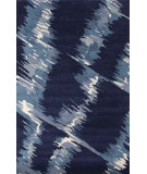 RugStudio presents Jaipur Rugs En Casa By Luli Sanchez Waves Lst04 Deep Navy/Ocean Blue Hand-Tufted, Good Quality Area Rug