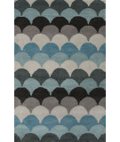 RugStudio presents Jaipur Rugs En Casa By Luli Sanchez Arc Lst06 Light Turquoise/Black Ink Hand-Tufted, Good Quality Area Rug