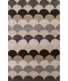 RugStudio presents Jaipur Rugs En Casa By Luli Sanchez Arc Lst07 Liquorice/White Hand-Tufted, Good Quality Area Rug