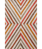 RugStudio presents Jaipur Rugs En Casa By Luli Sanchez Cornered Lst09 White/Poppy Hand-Tufted, Good Quality Area Rug