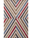 RugStudio presents Jaipur Rugs En Casa By Luli Sanchez Cornered Lst12 Antique White/Velvet Red Hand-Tufted, Good Quality Area Rug