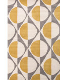 RugStudio presents Jaipur Rugs En Casa By Luli Sanchez Half Dot Lst13 Medium Gray/White Hand-Tufted, Good Quality Area Rug