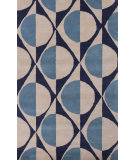 RugStudio presents Jaipur Rugs En Casa By Luli Sanchez Half Dot Lst14 Deep Navy/Dark Ivory Hand-Tufted, Good Quality Area Rug