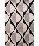 RugStudio presents Jaipur Rugs En Casa By Luli Sanchez Half Dot Lst15 Ebony/Classic Gray Hand-Tufted, Good Quality Area Rug
