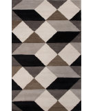 RugStudio presents Jaipur Rugs En Casa By Luli Sanchez Ojo Lst20 Ebony/White Hand-Tufted, Good Quality Area Rug