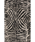 RugStudio presents Jaipur Rugs En Casa By Luli Sanchez Zebra Ikat Lst22 Dark Ivory/Ebony Hand-Tufted, Good Quality Area Rug