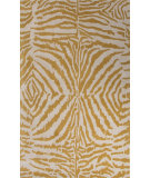 RugStudio presents Jaipur Rugs En Casa By Luli Sanchez Zebra Ikat Lst23 White/Golden Apricot Hand-Tufted, Good Quality Area Rug