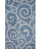 RugStudio presents Jaipur Rugs En Casa By Luli Sanchez Tendrils Lst37 Ocean Blue/White Hand-Tufted, Good Quality Area Rug