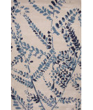 RugStudio presents Jaipur Rugs En Casa By Luli Sanchez Fossil Branch Lst41 Dark Ivory/Ocean Blue Hand-Tufted, Good Quality Area Rug