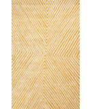 RugStudio presents Jaipur Rugs En Casa By Luli Sanchez Concentric Lst43 Sunflower/White Hand-Tufted, Good Quality Area Rug