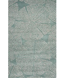 RugStudio presents Jaipur Rugs En Casa By Luli Sanchez Stipple Flower Lst45 Aruba Blue/Antique White Hand-Tufted, Good Quality Area Rug