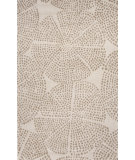 RugStudio presents Jaipur Rugs En Casa By Luli Sanchez Stipple Flower Lst48 White/Silver Gray Hand-Tufted, Good Quality Area Rug