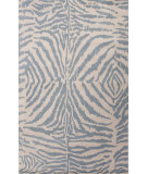 RugStudio presents Jaipur Rugs En Casa By Luli Sanchez Zebra Ikat Lst51 Antique White/Milky Blue Hand-Tufted, Good Quality Area Rug