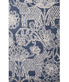 RugStudio presents Jaipur Rugs En Casa By Luli Sanchez Raja Lst53 Dark Denim/Antique White Hand-Tufted, Good Quality Area Rug