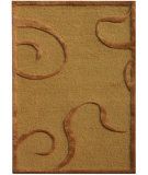 RugStudio presents Jaipur Rugs Midtown By Raymond Waites Curled Up Md13 Dark Amber Gold Hand-Tufted, Good Quality Area Rug