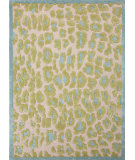 RugStudio presents Jaipur Rugs Midtown By Raymond Waites Wild Thing Md19 Cloud White / Cool Aqua Hand-Tufted, Good Quality Area Rug