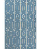 RugStudio presents Jaipur Rugs Maroc Naima Mr100 Ocean Blue Flat-Woven Area Rug