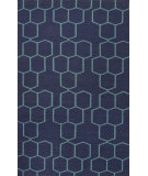 RugStudio presents Jaipur Rugs Maroc Abdel Mr112 Deep Navy/Ceramic Flat-Woven Area Rug