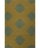 RugStudio presents Jaipur Rugs Maroc Nada Mr122 Ecru Olive/Deep Lake Flat-Woven Area Rug