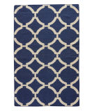 RugStudio presents Rugstudio Sample Sale 74929R Deep Navy / Antique White Flat-Woven Area Rug