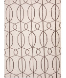 RugStudio presents Jaipur Rugs Maroc Naima Mr53 Antique White / Dark Brown Flat-Woven Area Rug