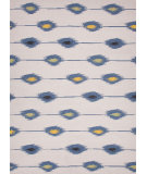 RugStudio presents Jaipur Rugs Maroc Aline Mr54 White / Denim Blue Flat-Woven Area Rug