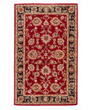 RugStudio presents Rugstudio Sample Sale 74952R Red / Ebony Hand-Tufted, Good Quality Area Rug