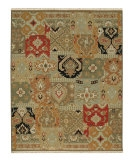 RugStudio presents Rugstudio Sample Sale 53425R Ebony/Red Hand-Knotted, Good Quality Area Rug