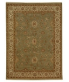 RugStudio presents Jaipur Rugs Opus Fleur OP03 Grape Green/Dark Ivory Hand-Knotted, Better Quality Area Rug