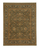 RugStudio presents Jaipur Rugs Opus Gigue OP07 Sea Green/Blue Hand-Knotted, Better Quality Area Rug