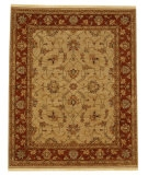 RugStudio presents Jaipur Rugs Opus Opera OP09 Soft Gold/Burnt Red Hand-Knotted, Better Quality Area Rug