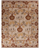 RugStudio presents Jaipur Rugs Opus Tree Of Life Op25 Creamy White Hand-Knotted, Best Quality Area Rug