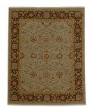 RugStudio presents Jaipur Rugs Atlantis Pani AL05 Ice Blue/Tobacco Hand-Knotted, Good Quality Area Rug