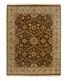 RugStudio presents Rugstudio Sample Sale 53278R Tobacco / Ice Blue Hand-Knotted, Good Quality Area Rug